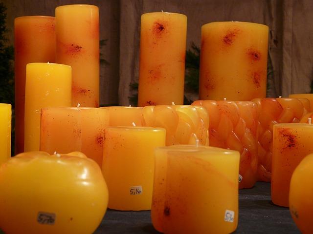 gotowe świece z wosku